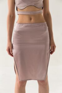 Silk Skirt with cuts